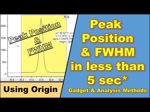 Peak Fitting using Origin Software (Tutorial) thumbnail