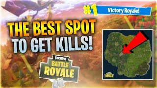THE BEST SPOT TO GET KILLS!! (Fortnite Battle Royale)