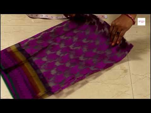 पुरानी साड़ी में से बनाये ये खास ड्रेस  Reuse old saree, Convert old saree into Long Gown,