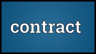 Contract Meaning