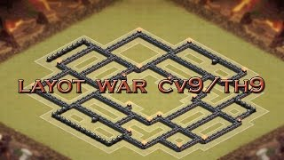 Clash of clans-novo Layout war cv9(layout war th9)