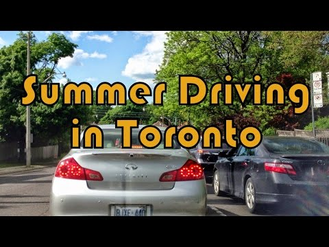 Driving in North York and Toronto (Keele & Lawrence to Gerrad and Church)