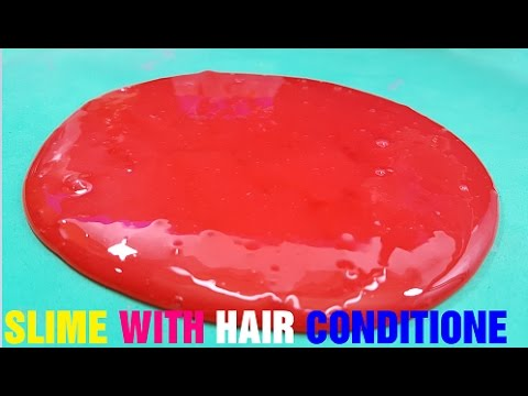 how to make slime with conditioner and glue