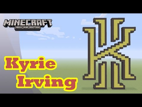 Minecraft: Pixel Art Tutorial and Showcase: Kyrie Irving Logo (NBA)