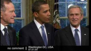 President-elect Obama meets with US presidents