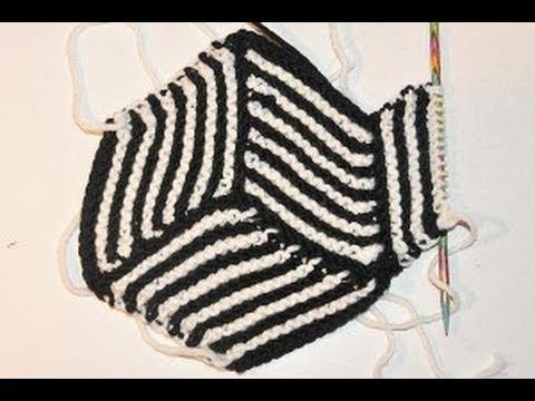 Stricken lernen * Hexen Ecken für coole Decken * Knitting Illusion ...