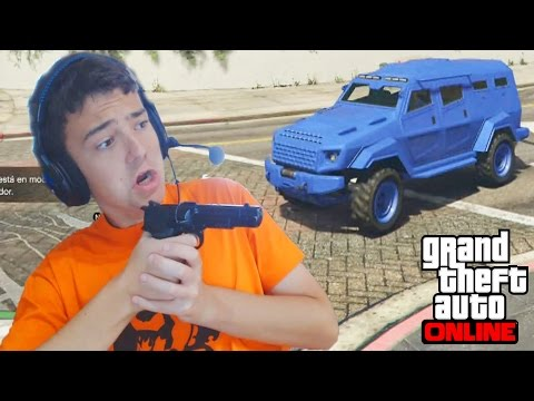 LANZACOHETES VS COCHES BLINDADOS - Gameplay GTA 5 Online Funny Moments (GTA V PS4) - DaniRep