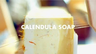 The Making of Calendula and Bergamot Soap