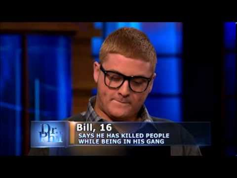 Dr. Phil Questions a Teen Gang Member about His Crimes