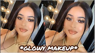 MY FLAWLESS, GLOWY MAKEUP for OILY/TEXTURED SKIN✨   MY GO-TO SUMMER GLAM *long wearing + glowy skin*