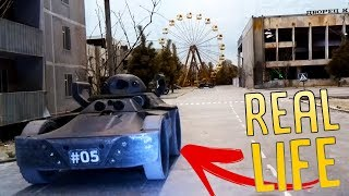 This Is Real Life?! - Driving Around Chernobyl In Real Robotic Tanks - Isotopium Chernobyl Gameplay