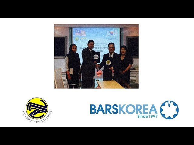 BARSKOREA and Naza Group of companies agreement signing [바스코리아, 눈꽃빙수기계, bing su machine ]