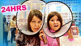 BACK TO SCHOOL SHOPPING IN CONES! ~ 24 Hrs Dog Cone Challenge In Public!
