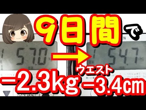【ダイエット】我慢なし!アラフォー主婦が9日で-2.3kgやせた方法!【diet】まるわかりチャンネル