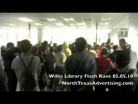 UNT Flash Mob Rave at Willis Library [Part 1 of 2]