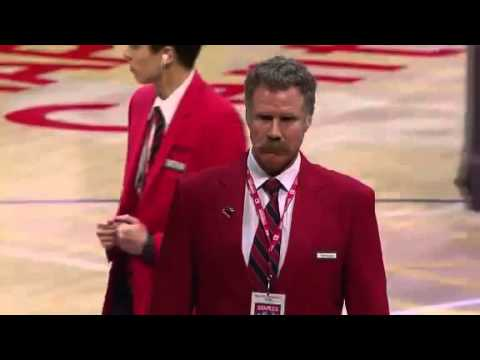Will Ferrell Works Lakers Game As A Red Coat Security Guard and ...