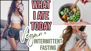WHAT I ATE TODAY.. (VEGAN) + FULL BODY AT HOME HIIT WORKOUT