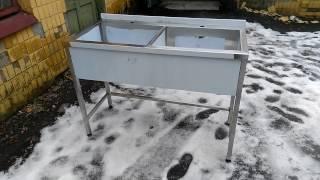 видео Ванна моечная из нержавеющей стали. Купить моечную ванну для общепита и столовой в Москве