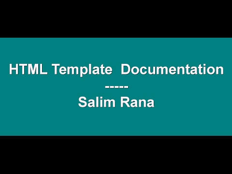 How To Create HTML Template Documentation For Themeforest