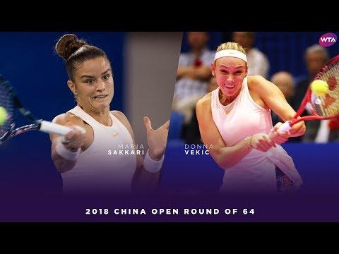 Maria Sakkari vs. Donna Vekic | 2018 China Open First Round | WTA Highlights 中国网球公开赛