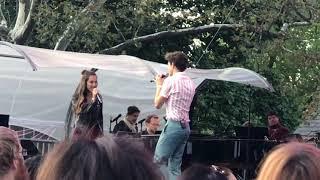 Joshua Bassett and Olivia Rodrigo at Elsie Fest 2019