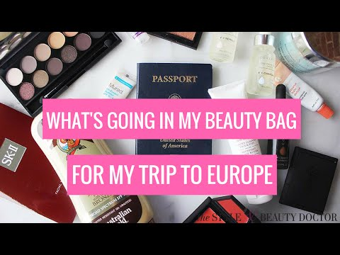 What I'm Packing in My Beauty Bag for My Trip through Europe!