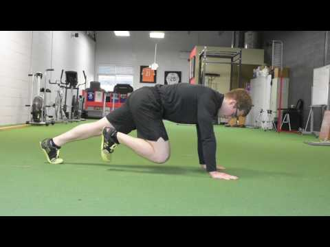 Mountain Climber Hold - a bodyweight training ab exercise