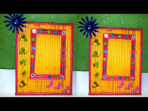 How To make a Newspaper Photo frame/Photo Frame Tutorial   Cardboard Photo Frame Best out of waste