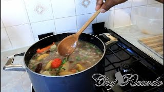 Jamaican Red Peas Soup With Beef -chef Ricardo Cooking