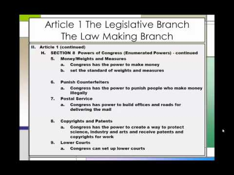 The Constitution An Outline Part 1  Youtube
