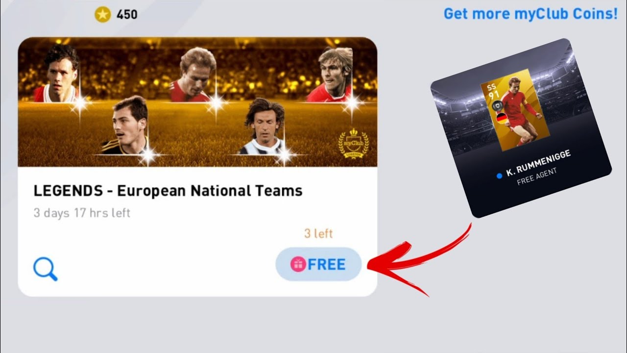 3 Spin = 3 Legends | Free LEGENDS - European National Teams Pack Opening In Pes 2020 Mobile