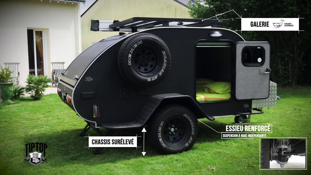 la tiptop freerider la remorque de camping tout terrain youtube. Black Bedroom Furniture Sets. Home Design Ideas