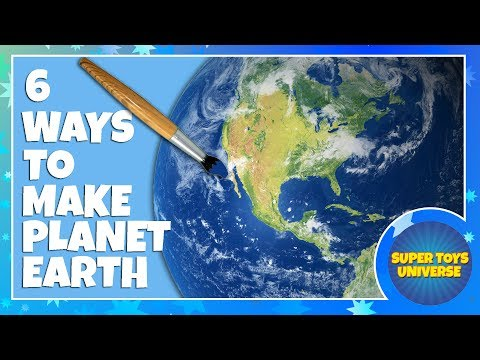 6 ways to make Planet Earth (Rice, Clay, 3D Pen, Pom Pom, Paper Mâché and Polystyrene)