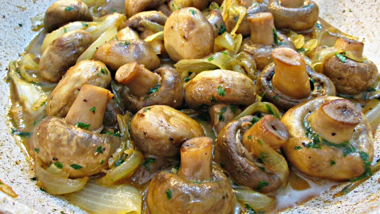 Garlic mushrooms and onions side dish or over steak youtube premium forumfinder Images