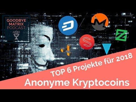 Top 6 Anonyme Kryptocoins Für 2018 - Podcast Spezial Folge #16