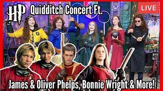 Harry Potter Quidditch Concert Ft. James & Oliver Phelps, Bonnie Wright & More | K3 Sisters Band
