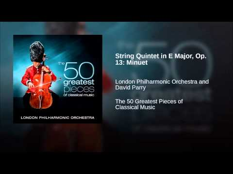 String Quintet in E Major, Op. 13: Minuet