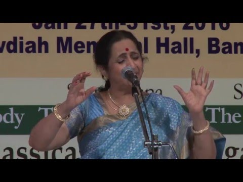 2016 - Carnatic Vocal by Aruna Sairam