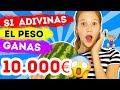 SI ADIVINAS EL PESO GANAS 10.000 EUROS | ADIVINA CUANTO PESA Y TE REGALO 10.000 | Daniela Golubeva