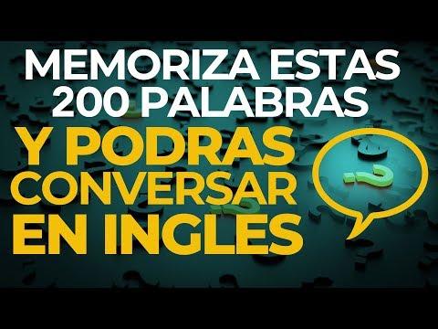 MEMORIZA Estas 200 PALABRAS y Podrás CONVERSAR en INGLES (Voz Inglés y Español)