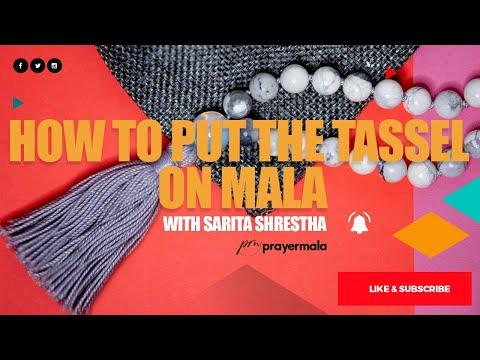 How to put the tassel on mala   Sarita Shrestha
