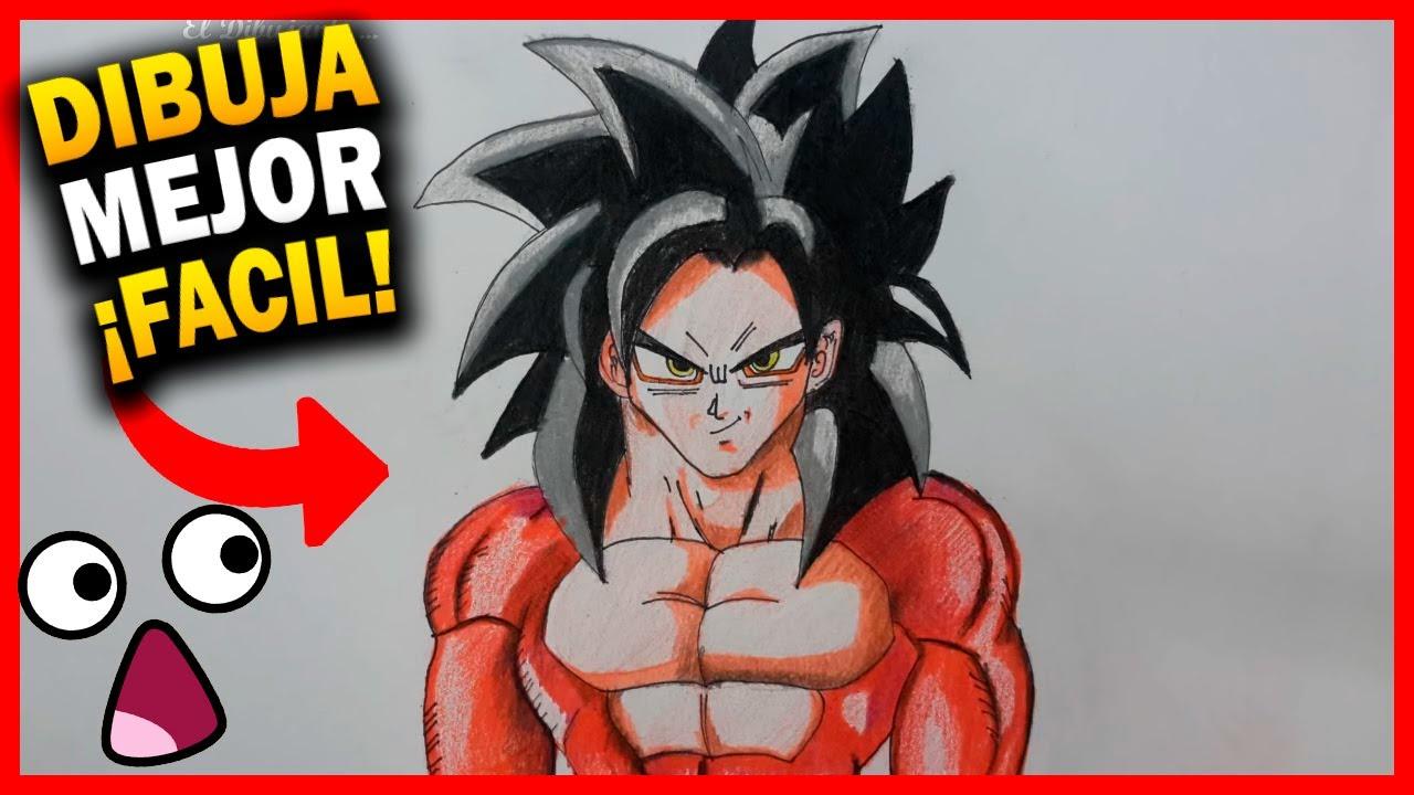 50 Imágenes De Goku Para Dibujar: COMO DIBUJAR GOKU SSJ4 PASO A PASO