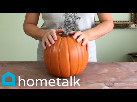 The gorgeous pumpkin decorating idea none of your neighbors have thought of!   Hometalk