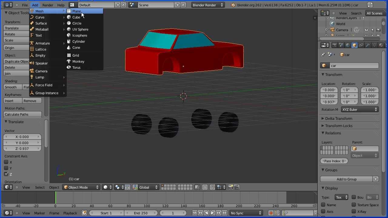 Making A Car Game In Blender
