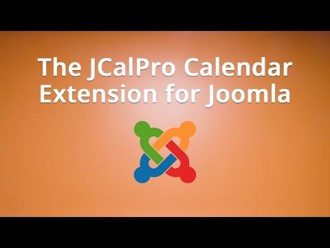 The JCalPro Calendar Extension For Joomla