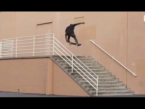 Bs 360 Nose Grab OVER 13 Stair Handrail!! - Behind The Clips - Zion Wright