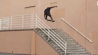 bs 360 nose grab over 13 stair handrail behind the clips zion wright