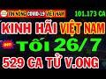Gambar cover 🛑Tin Khẩn TỐI 26/7:VN KHỦNG HOẢNG 101.173ca nhiễm & 529ca Tử Vong,XÓT XA Quá nhiều BÁC SỸ nhiễm Cv19