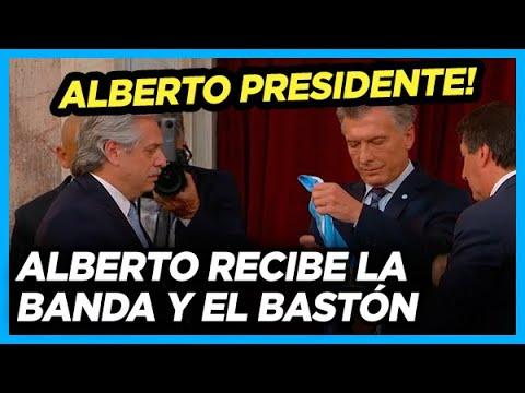 ALBERTO PRESIDENTE! Recibe la banda y el bastón presidencial