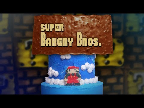 An Awesome Stop Motion Cake of Super Mario Bros. Level 1-1